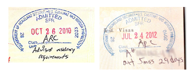 Residency Abandonment Warning Stamps